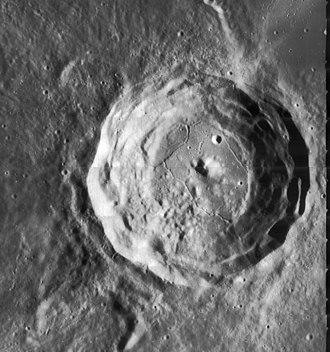 Cardanus (crater) - Lunar Orbiter 4 image