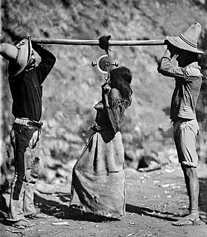 Carl Sofus Lumholtz - Image: Carl Lumholtz Tarahumara Woman Being Weighed, 1892