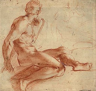 Human figure (aesthetics) - Nude study, by Annibale Carracci