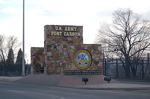Fort Carson - One of the entrance signs at Fort Carson