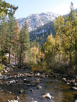 West Fork van de Carson in de Sierra Nevada
