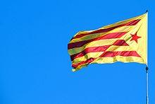 Catalonia Blanes Senyera.jpg