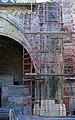 Cathédrale Notre Dame de Bayonne-Pilier sud du porche ouest-Juillet 1967.jpg