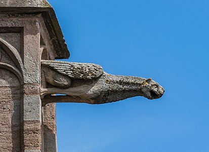 Gargoyle in the south facade of the Cathedral of Our Lady of the Assumption of Rodez, Aveyron, France