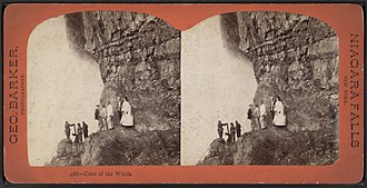 Cave of the Winds (New York) - Image: Cave of the Winds, by Barker, George, 1844 1894