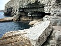 Caves at Dancing Ledge - geograph.org.uk - 389809.jpg