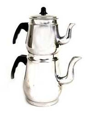 Tea in Turkey - Aluminium çaydanlık