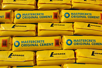 Blue Circle Industries - 25 kg bags of Blue Circle/Lafarge cement