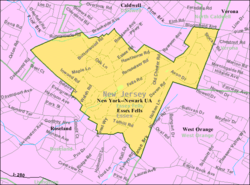 Census Bureau map of Essex Fells, New Jersey