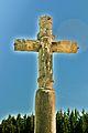 Châtelblanc. Détail de la croix de la Combille. Face Ouest. 2015-04-21.JPG