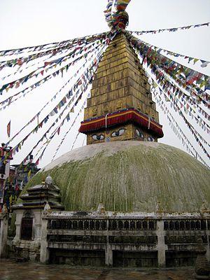 Charumati - The Charumati Vihara (Chabahil) stupa