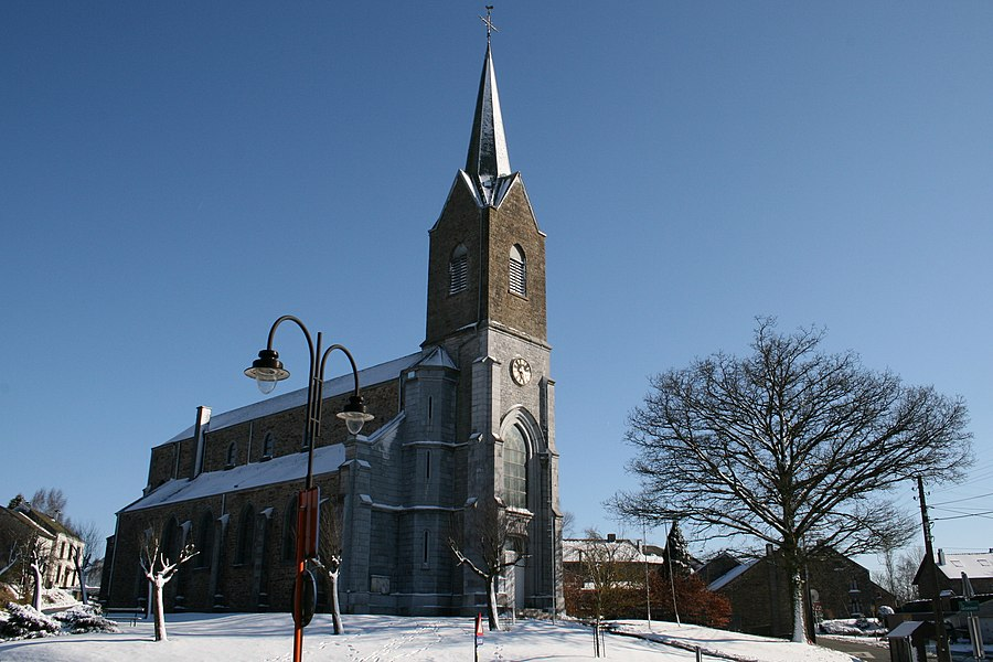 Champlon (Tenneville) (Belgium), the Saint Remacle church (1873-1874).