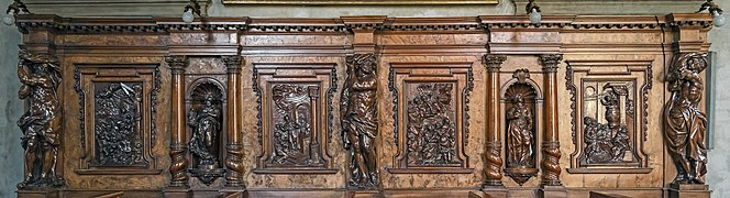 Chapel of our Lady of the Rosary of Santi Giovanni e Paolo (Venice) - Siding wooden altar by Giacomo Piazzetta.jpg