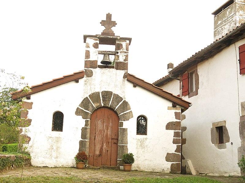 Chapel of Saint Salvator in the hamlet of Occos in Saint-Étienne-de-Baïgorry (Pyrénées-Atlantiques, France).