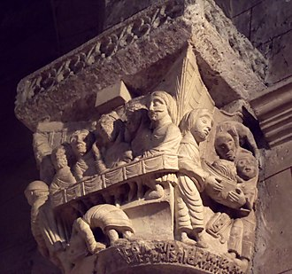 Bernard William of Gascony - A carved capital from Saint-Sever, a monastery founded by Bernard's father and endowed and confirmed by Bernard.