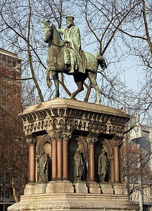 Herstal - Monument to Charlemagne, Liège, Louis Jéhotte, sculptor, 1867
