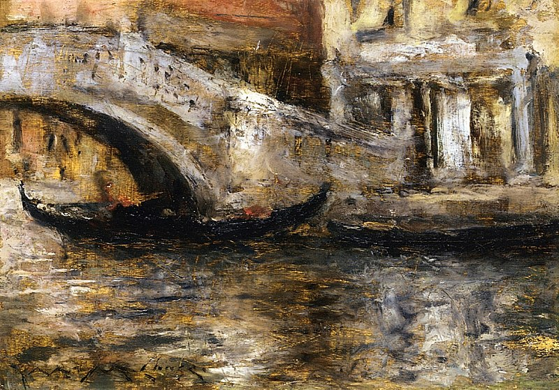 File:Chase William Merritt Gondolas Along Venetian Canal 1913.jpg