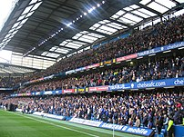 The East Stand during a match in 2006. The cos...