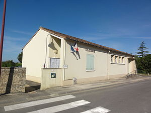 Chenay, Deux-Sèvres - The town hall in Chenay