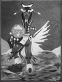 Cherokee High School Student's Painting of a Native American with a Spear and Shield. - NARA - 281612.tif