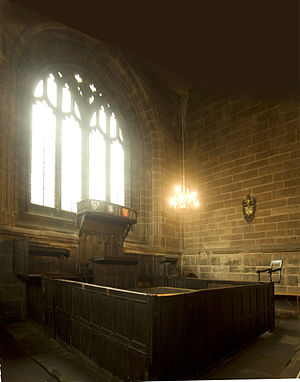 Consistory court - Consistory court in Chester Cathedral, the oldest complete ecclesiastical courtroom in Great Britain