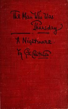 Couverture de « The Man who was Thursday », souvent cité en cours de partie.