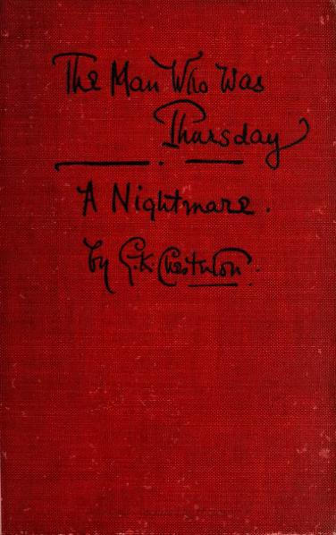 File:Chesterton - The Man Who Was Thursday.djvu