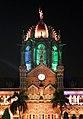 Chhatrapati shivaji terminus, esterno di notte 09.jpg