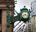 Chicago, marshall field and co., orologio all'angolo di randolph street.jpg