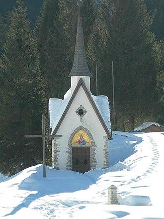 Primiero - The little church of Vederna  mountain