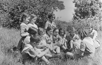 Summer camp - Children in a Montreal summer camp, July 1941