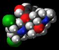 Chloroxymorphamine molecule spacefill.png