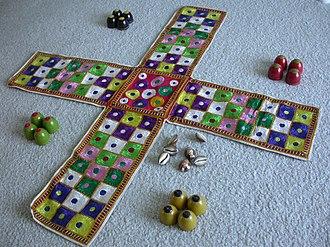 Chaupar - Fabric chaupar board