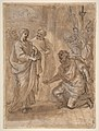 Christ and the Centurion (recto); Figure Waving to Departing Ship (verso). MET DP810989.jpg