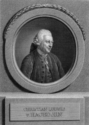 Johann Friedrich Bause - Portrait of Christian Ludwig von Hagedorn after Anton Graff