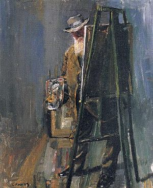 Christian Krohg - Image: Christian Krohg self portrait (1912)