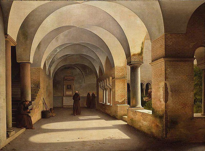File:Christoffer Wilhelm Eckersberg - The Cloisters, San Lorenzo fuori le mura.jpg