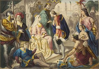 Crown of Castile - Columbus and the Catholic Monarchs (The return of Columbus)