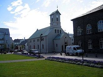 Austurvöllur - Dómkirkjan church on Austurvöllur
