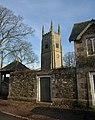 Church tower and wall, Sampford Courtenay (geograph 2766603).jpg