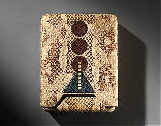 Cigarette case - Snake skin cigarette case designed by Pierre Legrain, ca 1925