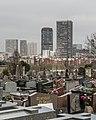 Cimetière de Gentilly and Skyscrapers of the 13th Arrondissement of Paris 20140317.jpg