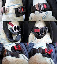 Tre tipologie di allaccio per casco, di cui a sinistra slacciate, mentre a destra sono allacciate