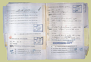 "Howard W. Smith - House Rules Committee clerk's record of markup session adding ""sex"" to bill."