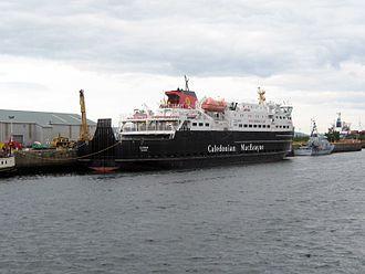 MV Clansman - Image: Clansman, Watt Dock 13710