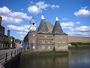 Three Mills - The Clock Mill at Three Mills in Bromley-by-Bow