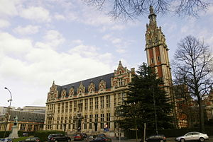 Free University of Brussels - The clock tower of the Free University of Brussels', now the Université Libre de Bruxelles', campus in Solbosch, built in the 1920s