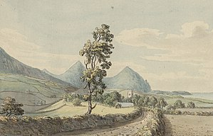 Moses Griffiths - Image: Clynnog by Moses Griffith 1782