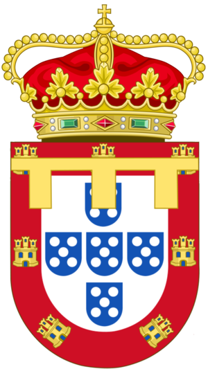 Luís Filipe, Prince Royal of Portugal - Image: Coat of Arms of the Prince of Portugal (1481 1910)