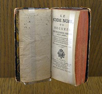 Code Noir - Code Noir of 1742, Nantes history museum